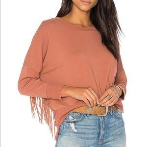 Amuse society fringe sweater